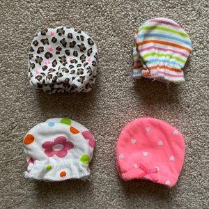 Bundle of Baby Girls' newborn mittens